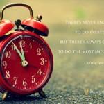 tijd naar prioriteit